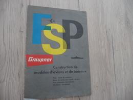 Brochure Maquettisme Groupner Avions Bateaux 12 Pages - Letteratura & DVD