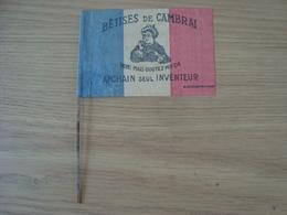 DOCUMENT PUBLICITAIRE DRAPEAU BETISES DE CAMBRAI - Advertising