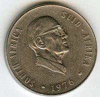 Afrique Du Sud South Africa 50 Cents 1976 Président Fouche KM 96 - Afrique Du Sud