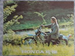 PUBLICITE PROSPECTUS  MOTO HONDA XL 250 SDVL  NANTES 29.7 X 21 CM - Advertising
