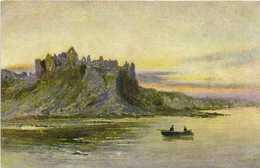 Illustrateur Paysage Ecossais Lac Barque Chateau En Ruine RV Edition De La Chocolaterie D'Aiguebelle - Pittura & Quadri