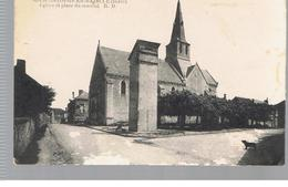 CPA SAINT CHRISTOPHE EN BAZELLE (36) Eglise Et La Place Du Marché - France