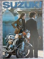 PUBLICITE PROSPECTUS 6 PAGES MOTO SUZUKI GT PIERRE BONNET BOULOGNE / SEINE   29.7  X 21 CM - Advertising