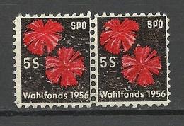 Österreich Austria 1956 SPO Wahlfonds Vignette Blumen Politics Elections As A Pair (*) - Other