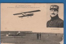 596 ETAMPES AVIATION LE LIEUTENANT D'ARTILLERIE COMBETTE, SUR BIPLAN H. FARMAN - Aviatori