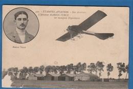 439 ETAMPES AVIATION NOS AVIATEURS L'AVIATEUR MARIUS TERCE SUR MONOPLAN DEPERDUSSIN - Piloten