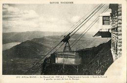73 .n° 22462 . Aix Les Bains . Le Revard .telepherique A L Arrivee .la Gare . - Aix Les Bains