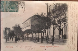 CPA, Acireale, Piazza Agostino Pennisi, éd Paolo Massina, écrite En 1908, Animée,cartolina Con Animazione, ITALIE - Catania