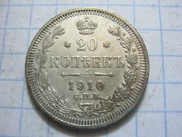 Russia , 20 Kopeks 1910 СПБ ЭБ - Russia
