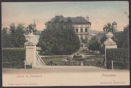 """Trautenau Trutnov Riesengebirge Ak Von 1919 """"Partie Am Stadtpark"""" Handcolorierte Künstlerkarte - Sudeten"""