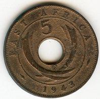 Afrique Orientale Britanique East Africa 5 Cents 1943 SA KM 25.2 - Colonie Britannique