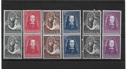 LUXEMBOURG 1950** SERIE PUPILLES DE LA NATION - YT 433-438 - Série X 2 - Neufs