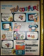 PUB PUBLICITE OVOMALTINE CHOCOLAT TELE COULEURS LES TROIS 3 MOUSQUETAIRES ROBIN DES BOIS - Vieux Papiers