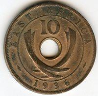 Afrique Orientale Britanique East Africa 10 Cents 1936 KM 24 - Britse Kolonie