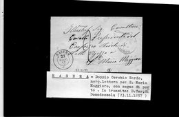 CG28 - Lett. Da Masera X S.Maria Magg. 23/11/1857 - 1. ...-1850 Prefilatelia