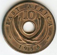 Afrique Orientale Britanique East Africa 10 Cents 1956 KM 38 - Colonie Britannique