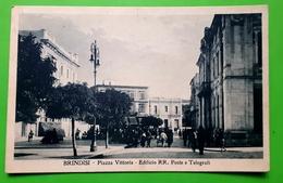 Cartolina - Brindisi - Piazza Vittoria - Edificio R. R. Poste E Telegrafi - 1925 - Brindisi