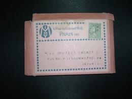 PETITE BOITE CARTON MIDY PARIS 17e TP PREO SEMEUSE 15c Pour DOCTEUR CHENET PARIS 9e - Préoblitérés