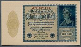 Pick 72 Ro69b DEU-78b 10000 Mark 1922 UNC ! - [ 3] 1918-1933 : République De Weimar