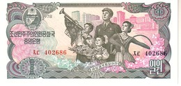 North Korea P.18a 1 Won 1978 Unc - Corea Del Nord