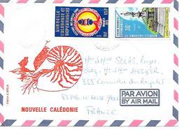 TIMBRES Sur LETTRE - Par Avion   1976 - New Caledonia