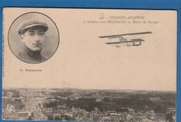 500 ETAMPES AVIATION L'AVIATEUR LEON DEBERGUE SUR BIPLAN M.FARMAN - Piloten