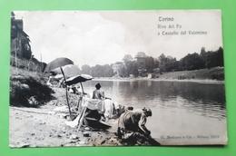 Cartolina - Torino - Rive Del Po E Castello Del Valentino - 1908 - Italia