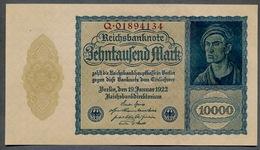 Pick 72 Ro69b DEU-78b 10000 Mark 1922 UNC ! - 10000 Mark