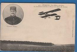 457 ETAMPES NOS OFFICIERS AVIATEURS LE LIEUTENANT D'ARTILLERIE BRIAULT SUR BIPLAN M. FARMAN - Piloten