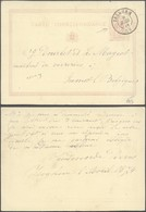 "EP Au Type 5ctm Mauve ""carte-correspondance"" Obl Double Cercle ""Iseghem"" (1874) > Jumet. - Postkaarten [1871-09]"