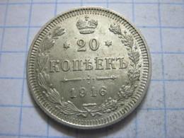 Russia , 20 Kopeks 1916 - Russia