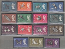 SOLOMON ISLANDS 1965 QEII Definitive Complete Set MVLH (*) Mi 113-127SG 112-126 #12969 - Unclassified