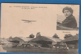 434 ETAMPES AVIATION L'AVIATEUR MANEYROL SUR MONOPLAN BLERIOT - Piloten