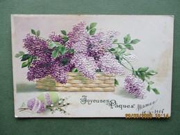Fantasie Kaart Pasen Pâques Bloemen Des Fleurs - Easter