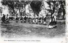 (142) CPA  Macedoine .  Danse Macedonienne 4eme Jour De Paques Apres La Messe  (bon Etat) - Macédoine