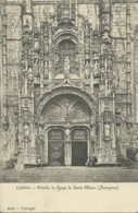 Portugal - Lisboa - Entrada Da Egreja De Santa Maria - Jeronymos - Lisboa