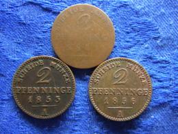 GERMANY PREUSSEN 2 PFENNING 1841 KM451 2 PFENNIG 1853A, 1856A KM452 - [ 1] …-1871 : German States
