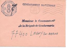 GENDARMERIE NATIONALE - Ancy  Le Franc - Mechanische Stempels (reclame)