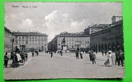 Cartolina - Torino - Piazza S. Carlo - 1928 - Italia