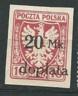 Pologne    Taxe    Yvert N°   34 (*)  -   Aab 27220 - Postage Due