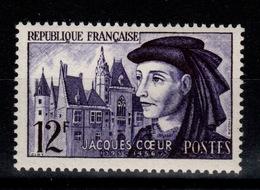 YV 1034 N** Jacques Coeur Cote 2,80 Euros - Neufs