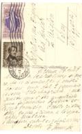 Bella Franchigia Donzetti 15 L + S. Catarina 10 L Su Cartolina Andata In Svizzera 1949 DENTI In Perfetta Condizione - 1946-60: Marcophilie