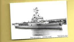 C P PORTE HELICOPTERES JEANNE D'ARC MARIUS BAR PHOT TOULON - Warships