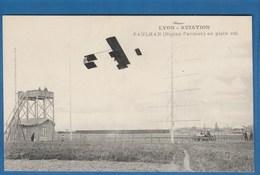 LYON AVIATION PAULHAN BIPLAN FARMAN EN PLEIN VOL - Airmen, Fliers