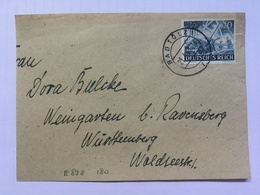 GERMANY 1943 Piece Bad Tolz To Ravensburg Tied With 10 + 14 Pf Armed Forces - Allemagne
