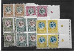 LUXEMBOURG 1928** SERIE CARITAS X 4  YT 209-213 - Neufs