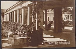 Franzensbad Františkovy LáznÄ› Fotokarte (711) Colonnade Mit Blick Auf Die Franzensquelle - Sudeten