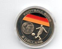LIBERIA 5 DOLLAR 2005 CN FOOTBALL VOETBAL - DAMAGE ONLY ON CAPSEL - Liberia