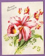 Carte A Systeme Depliante  Pop Up Heureux  Anniversaire Fleur  N° 1125 ESP Paris - CARTE NON ECRITE - - Cumpleaños