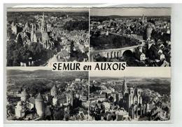 21 SEMUR EN AUXOIS VUE GENERALE EGLISE VIEUX CHATEAU 4 TOURS VUES MULTIPLES AERIENNES - Semur